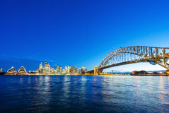 Sydney CBD and Harbour Bridge. Sydney CBD with view of Harbour Bridge and Opera House Royalty Free Stock Image