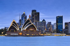Sydney CBD From kirribilli Blue Set Royalty Free Stock Photos