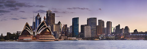 Sydney CBD Kirribilli close panorama Royalty Free Stock Images