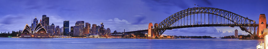 Sydney CBD From Kirribilli 5 hor Stock Photography