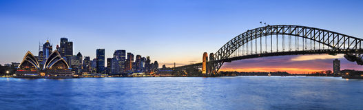 Sydney CBD Kirribilli 3 horizontal pan Stock Photos