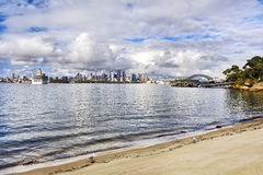 Sydney CBD 2 liners bay day Royalty Free Stock Photography