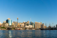 Sydney CBD miasta widok Kochany schronienie i Sydney Górujemy Obrazy Royalty Free