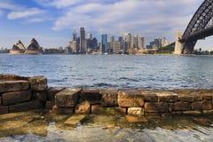 Sydney CBD Mils Rockpool Wall Day Stock Photography