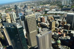 Sydney CBD miniature view from the Sky Royalty Free Stock Photo