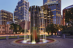 Sydney CBD modern springbrunnstad Royaltyfria Bilder