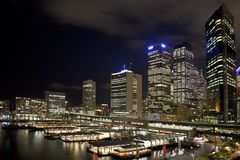 Sydney CBD at night Stock Images