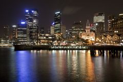 Sydney CBD at night Stock Photos