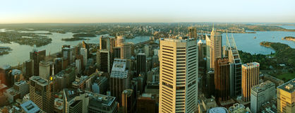 Sydney CBD panorama Royalty Free Stock Image