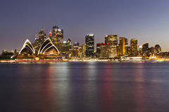 Sydney CBD Panorama Kiribilli Sunset Royalty Free Stock Images