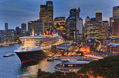 Sydney CBD QM2 Front Set Stock Photos