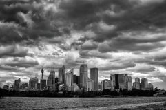 Sydney CBD skyskrapor Fotografering för Bildbyråer
