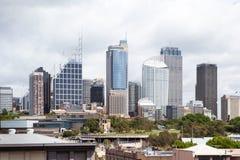 Sydney CBD von Königen Cross Lizenzfreie Stockfotos