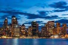 Sydney Central Business District la nuit Images libres de droits