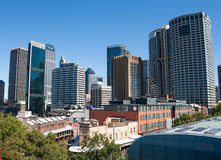 Sydney Central Business District, New South Wales, Australia. Panorama of modern and historic buildings of Sydney Central Business District, New South Wales stock photos