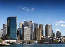 Sydney central CBD urban skyline in australia on sunny day Royalty Free Stock Photos