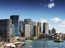 Sydney central CBD urban skyline in australia on sunny day Stock Images