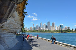 Sydney central district skyline from the Rosa Botanic Gardens in Stock Photos