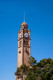 Sydney Central Station Clock Tower. On blue sky background, clear day Stock Photo