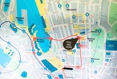 Sydney chengtie trasy mapa Fotografia Stock