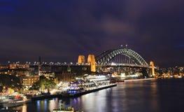 Sydney Circular Bridge sunset Stock Photo