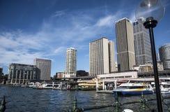 Sydney Circular Quay ferry wharf Stock Photo