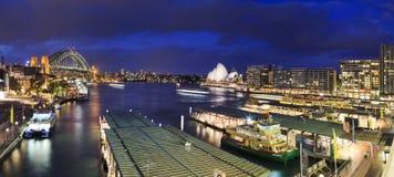 Sydney Circular Quay sunset panorama Stock Photo