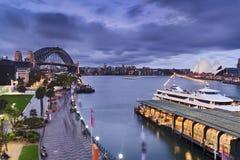Sydney Circular sunset walk Stock Photo