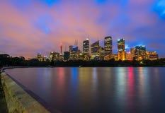 Sydney City Australia nachts Lizenzfreie Stockfotografie