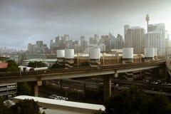 Sydney city, Australia, under clouds. Stock Photography