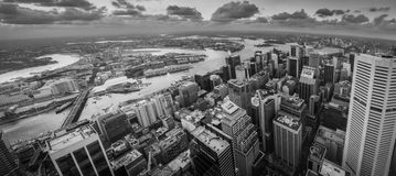 Sydney city in B&W Royalty Free Stock Images