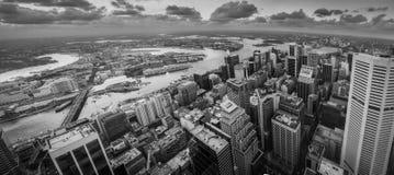 Sydney city in B&W Royalty Free Stock Photo