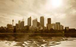 Sydney city CBD skyline Royalty Free Stock Photo