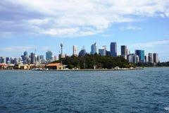 Sydney city CBD towers and office buildings Stock Photos