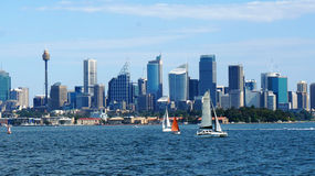 Sydney city CBD towers and office buildings Stock Photo