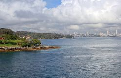 Sydney city center from Watson Bay. Sydney city center view from Watson Bay royalty free stock image