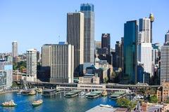 Sydney City Circular Quay Arkivbild