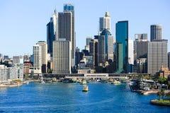 Sydney City Circular Quay Royaltyfri Fotografi