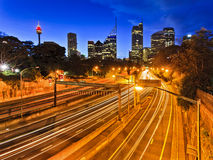 Sydney City Domain Highway image stock
