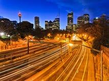 Sydney City Domain Highway Stock Image