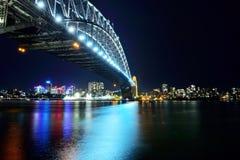 Sydney city Harbor bridge Stock Photography