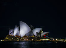Free Sydney City Harbour With Opera House At Night In Australia Stock Photos - 74048203