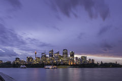 Sydney city night life Royalty Free Stock Image