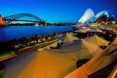 Sydney city at night royalty free stock photography