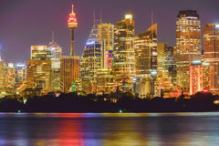 Sydney City at night. Sydney,NSW,Australia Stock Photos