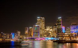 Sydney city nightscape. Royalty Free Stock Photo