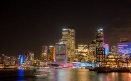 Sydney city nightscape. Royalty Free Stock Photo