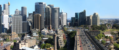 Sydney City Panorama Fotografering för Bildbyråer