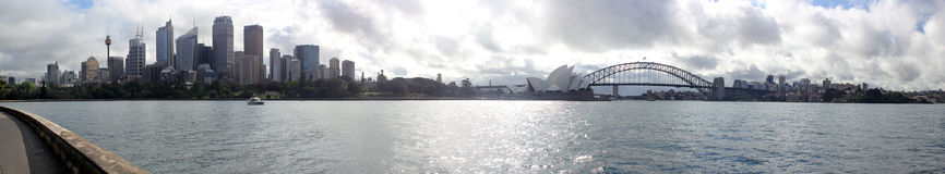 Sydney City panoramic Skyline. With opera and harbour bridge stock image