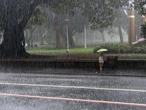 Sydney City Rain Storm imágenes de archivo libres de regalías